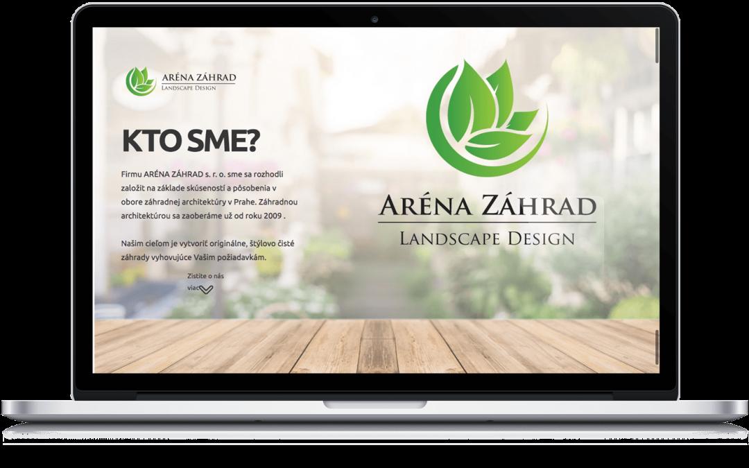 Prezentačný responzívny web pre záhradného architekta