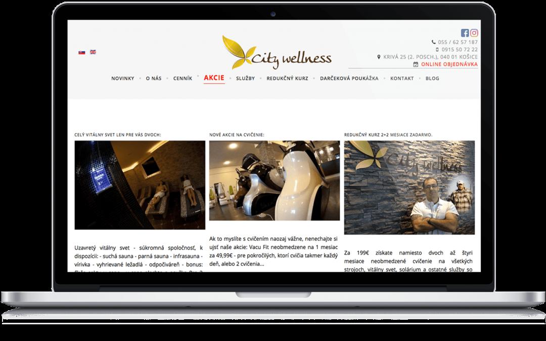 Responzívny viacjazyčný web pre Relaxačné centrum City Wellness Košice