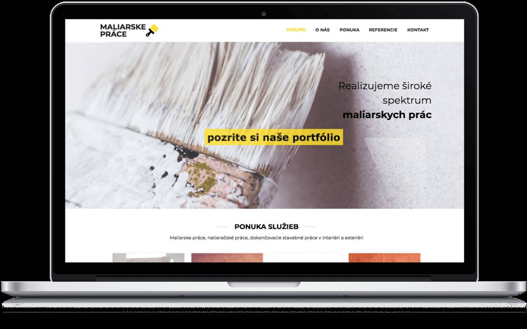 Jednoduchá, moderná webstránka pre maliara